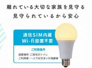 かけがえのない家族の見守りに通信SIM内蔵AI電球という発想はグローバルでエコナセイカツを送るためにもおすすめサービス
